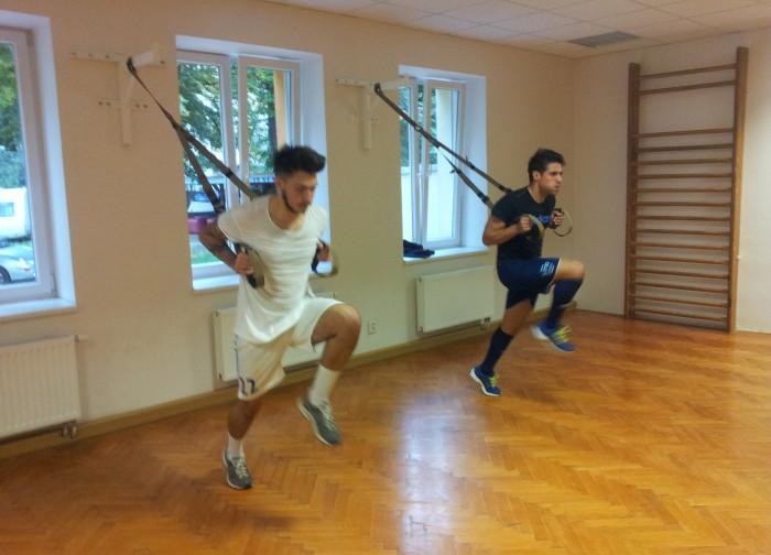 Core trénink TRX s fotbalisty z Moravské Slávie